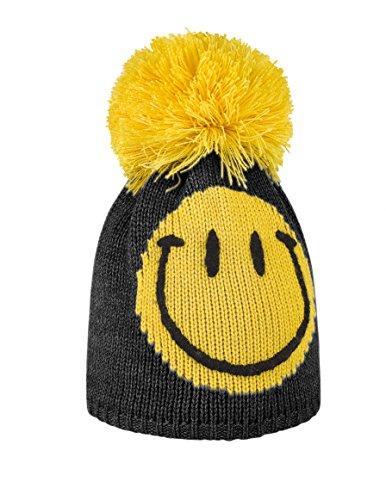 Brekka - Cappello Smiley Pom Cuffia Invernale  Nero