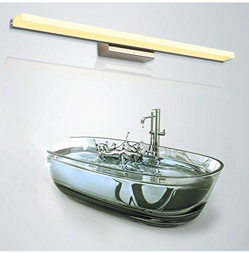 specchio luce led specchio del bagno ad acqua leggera nebbia bagno mobile a specchio moderno luce lampada da parete minimalista luci principali 60cm / 9W ( Color : Warm Light )