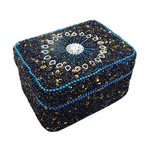 decorativi scatola di gioielli accessori custodia delle