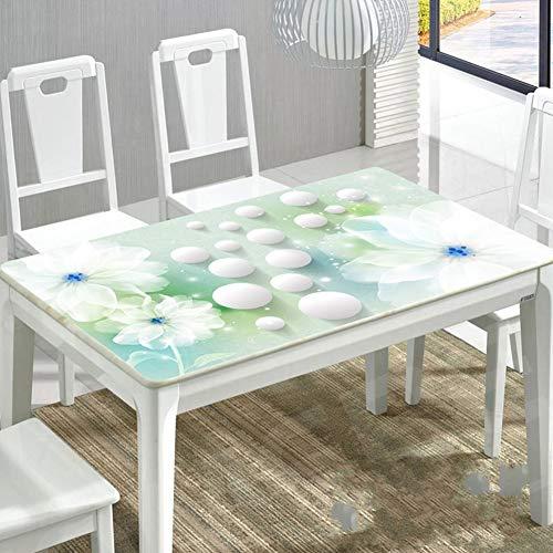 Dicke Top-tabelle (3D PVC Tischtuch 1.5mm Dicke Schreibtisch-top-pad Kunststoff Tischtuch Mat Vinyl Tabelle Pads Wasserdicht PVC Tischtuch Abdeckung Für Esstisch Schreibtisch Computer Schreibtisch-e 80x80cm(31x31inch))