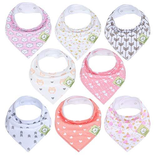 Baberos para niñas de bandana de bebé