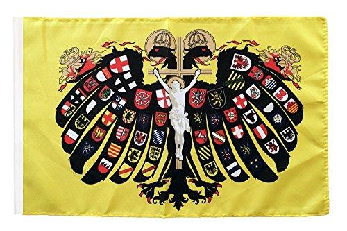 Flaggenfritze® Flagge Heiliges Römisches Reich Deutscher Nation Quaterionenadler - 30 x 45 cm