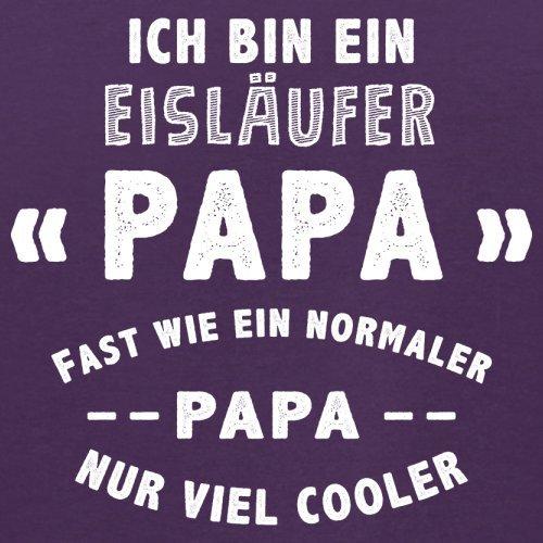 Ich bin ein Eisläufer Papa - Herren T-Shirt - 13 Farben Lila