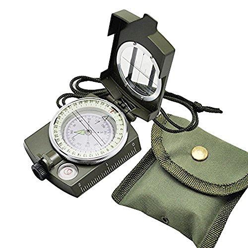Vinmax Portable militaire Armée Géologie Boussole multifonctionnel pour camping Outil d'exploration avec lumière fluorescente