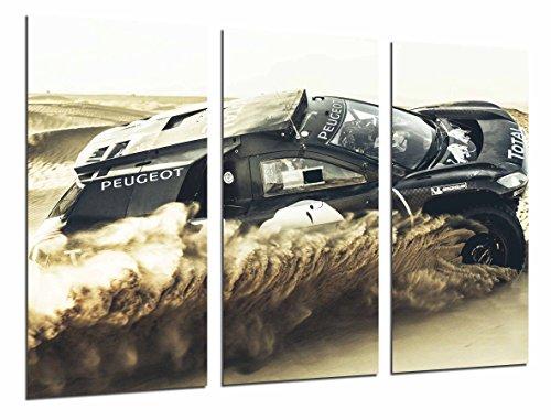 Poster Fotográfico Coche Peugeot Carreras Rally Sobre