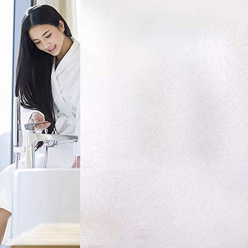Funlifly Fensterfolie Selbsthaftende Milchglasfolie Blickdichte Sichtschutzfolie Statisch Haftend Anti-UV für Büro...