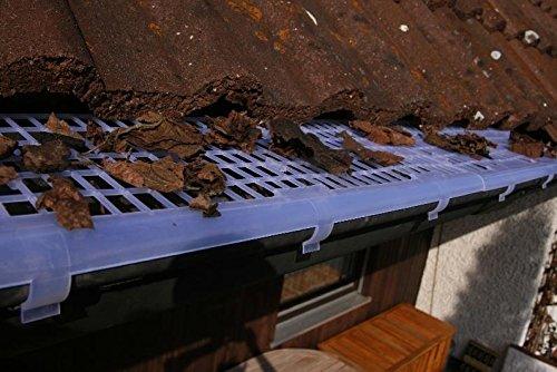 Dachrinnenschutz - 3 Meter - Rinnenschutz Laubschutz Dachrinnenabdeckung