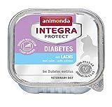 Animonda Integra Protect Diabetes mit Lachs | Diät Katzenfutter | Nassfutter bei Diabetes mellitus (16 x 100 g)