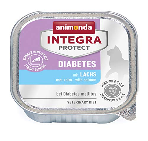 Animonda Integra Protect Diabetes mit Lachs | Diät Katzenfutter | Nassfutter bei Diabetes mellitus (16 x 100 g)