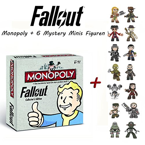 fallout 4 monopoly Fallout. Monopoly Collector's Edition (deutsch) + 6 Funko Mystery Minis Figur in Blindbox