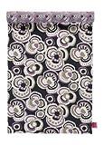 ELLE Decoration & LINUM Tischläufer Flower F18 schwarz, grau und lila 45cm x 150cm, doppelseitig