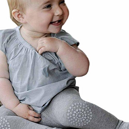 Stulpen,bobo4818 Lange Hose Knie-Pads Creepy Crawler Hilfe Knie Protector,Gummibeschichtung An Knien Und Zehen, (Height:70CM, Gray) (Baby-crawler)