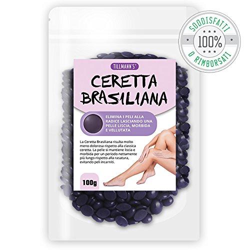 CERA BRASILIANA - CERETTA BRASILIANA INDOLORE - Utilizza direttamente le mani senza bisogno di strisce aggiuntive – 100g
