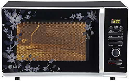 LG-32-L-Convection-Microwave-Oven-MC3283-PMPG-Black-Paradise-Floral