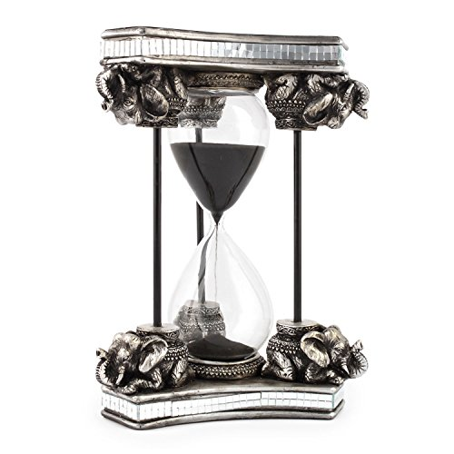 Pajoma Reloj de Arena Safari II de Resina & Cristal, H 20x...