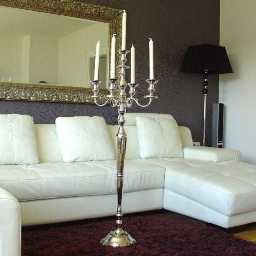 Victoria Kerzenleuchter Kerzenständer 120 cm hoch Aluminium silber Deko für gehobenes Ambiente