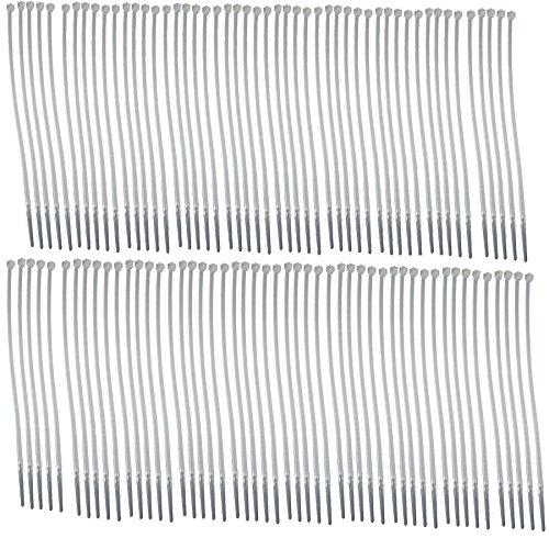Bridas de nylon blanco lazos Lazos Zip bloqueo 2