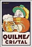 Herbé TM Poster/Reproduction A3+ (33x48cm) d'1 Affiche Vintage/Ancienne/Rétro BIèRE QUILMES Cristal