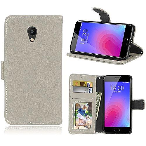 6c4f93884ce Funda Meizu M6 Meiblue 6 Meilan 6 Case,Bookstyle 3 Card Slot PU Cuero  cartera
