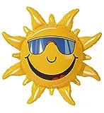 shoperama Aufblasbare Sonne Party-Deko 60 cm Hawaii Beach-Party Garten-Party Sommer-Deko