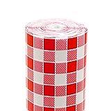 Garcia de Pou Tovaglia Rotolo Aneto Vichy Rosso 48 G/M2 1,20X100 M Bianco Cellulosa - 1 unità