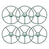 COM-FOUR® 6x Blumen- und Staudenhalter, für Blumen, Rankengewächse und Stauden, rund, Ø 29,5 cm (06 Stück - Ø 29.5cm)