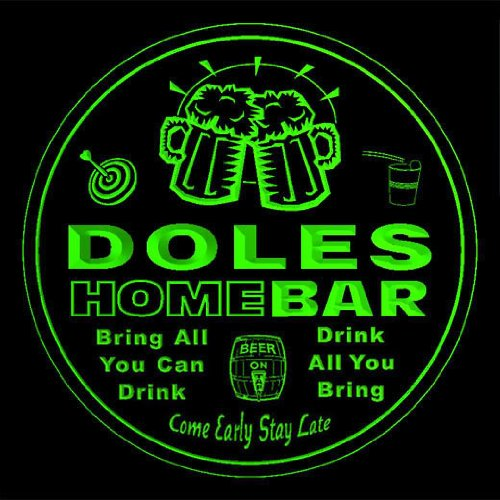 4x-ccq11854-g-doles-family-name-home-bar-pub-beer-club-gift-3d-coasters