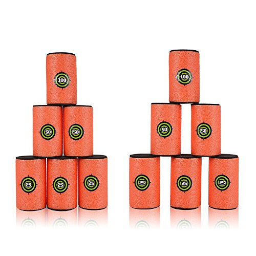 Yosoo Ball Ziele Weiche Eva für Nerf Foam Dart Gun Schießen Eva Für Nerf N-Strike Elite Blasters (9,
