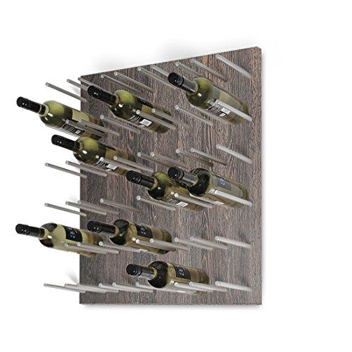 Wand-Weinregal / Flaschenregal System ESTABA für 30 Flaschen, Holz Melamin beschichtet, Wenge,...