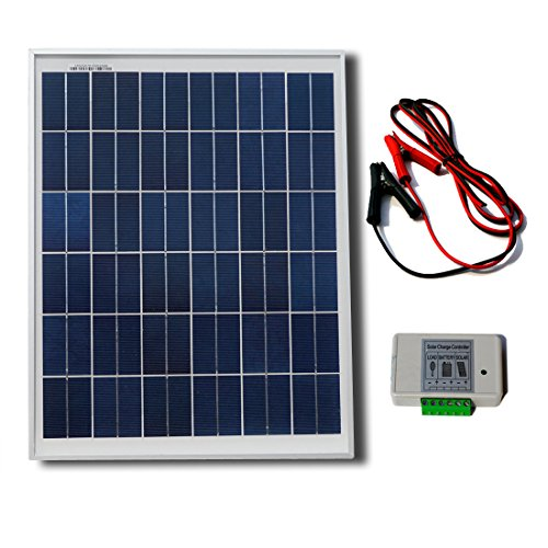 eco worthy 12 volt 25 watt solar kits 1pc 25w polycrystalline pv eco worthy 12 volt 25 watt solar kits 1pc 25w polycrystalline pv solar panel module 3 feet wire 30a battery clips 6 feet extension cable 3a