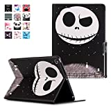 iPad Air 2 Hülle, Deenor Painting Cute and Stylish Fashionable Folding Folio Book Flip Stand Schutzhülle Hülle für Apple iPad Air2 iPad 6 generation + Free Gift Touching Pen/Stylus Pen + Screen Film Protector. Skull