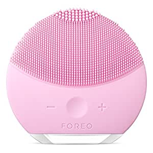 FOREO LUNA mini 2 Facial Cleansing Brush and Anti-aging Skin Care device made with Soft Silicone for Every Skin Type Pearl Pink, USB Rechargeable