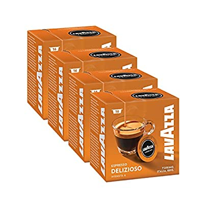 Lavazza A Modo Mio Delizioso Coffee Capsules (4 Packs of 16)