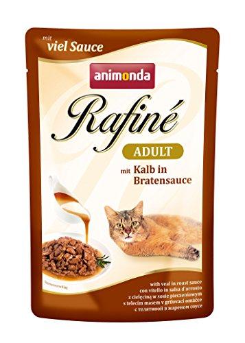 Animonda Rafine Adult Katzenfutter mit Kalb in Bratensauce, 12er Pack (12 x 100 g)