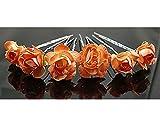 KELAND 10 pièces Épingles à cheveux en fleurs Guirlande Bandeau accessoire de demoiselles d'honneur pour mariage (Orange)