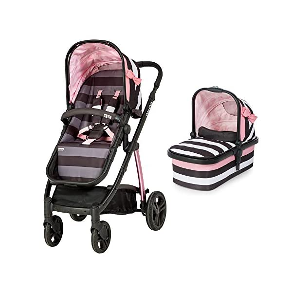 Cosatto Wow Pram and Pushchair, from Birth Carrycot and Pushchair Suitable upto 25 kg, GoLightly 3 Cosatto Backed by science, Cosatto prams are ideal for your baby; the patterns in Cosatto hoods are designed to stimulate your baby with bright, eye-catching colour and storytelling pattern Includes the from-birth carrycot (suitable for occasional overnight sleeping), then swap to pushchair unit, suitable up to 25 kg, with parent and world facing options and four recline positions Easy one-handed features, push-button carrycot removal, seat recline and calf support 1