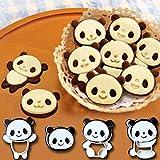 Teaio 4 Pcs Keksform Panda Kunststoff Backform Klein Ausstechformen Tier Backform für Party