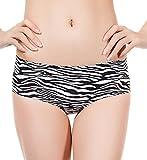 SodaCoda Damen Po Push-Up Mieder Höschen mit niedriger Taille - Eingenähte Unsichtbare Polster, S/M (34-36),  Zebra