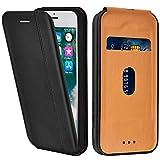 LEAUM Coque en Cuir pour Apple iPhone 7, Premium Étui à Rabat Protecteur Housse en...