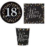 ILS I LOVE SHOPPING Kit Festa Coordinato Tavola Addobbi Party Set Compleanno con 8 Piatti 23cm, 8 Bicchieri e 20…