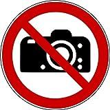 10 Aufkleber Fotografieren verboten Aufkleber kein Foto (10 Stück) vorgestanzt für Innen & Außen mit UV-Lack, witterungsbeständig, selbstklebend, keine Fotos Schild überkleben, Verbotszeichen Arbeitssicherheit Fotografieren verboten Fotoverbot Aufkleber von Aufklebo P029 Aufkleber Fotografieren verboten