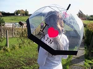 Parapluie - Parapluie Dome transparent I love Rain