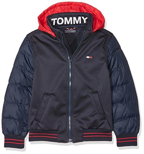 Tommy Hilfiger Jungen Jacke Bonded Sports Jacket, Blau (Black Iris 002), 92
