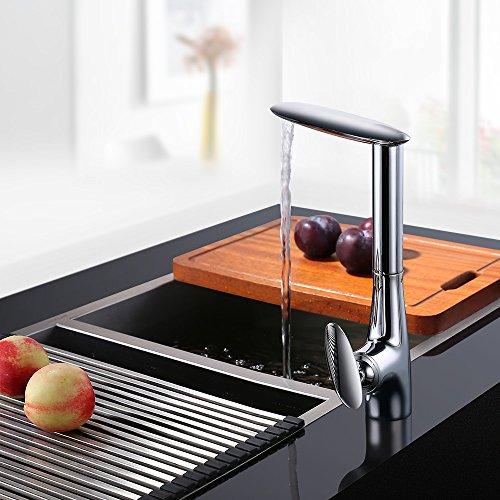 Homelody – Seltene Design-Küchenarmatur, 360° drehbar, Chrom - 2