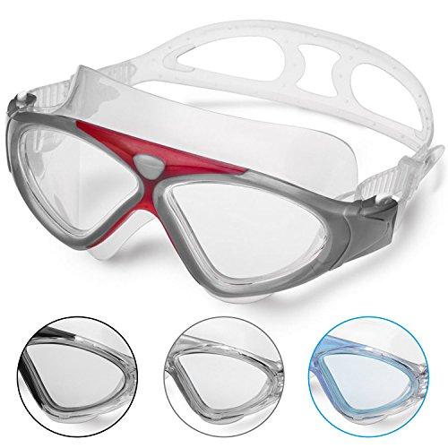 Lunettes de Natation - Lunettes de Piscine Adultes Transparents Antibuée Etanches Protection UV...