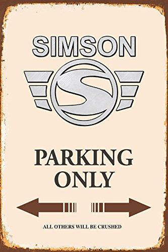 Simson Parking only park schild tin sign schild aus blech garage