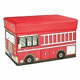 So senden Hocker Creative Car Storage Hocker überdachte Multi-Funktions-Speicher Hocker Spielzeug Speicher Hocker (rot) (41 * 26,5 * 4cm) --Lagerhocker