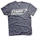 The Avengers Licenza Ufficiale Stark Industries Logo Uomo Maglietta (Marino Heather), Small