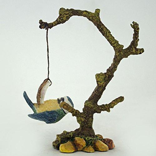 Azul Tit en un coco–Bowbrook–Figura decorativa–11cm