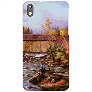 Design Worlds - HTC Desire 816G Designer Back Cover Case - Multicolor Phone...